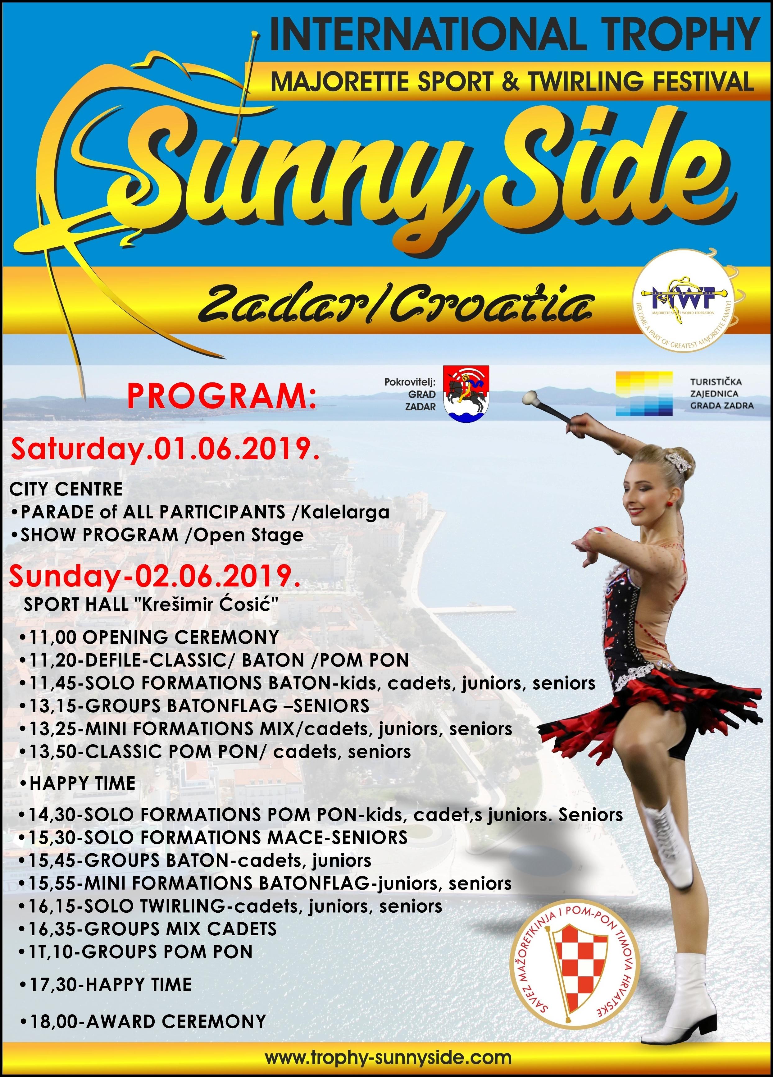 I. International trophy sunny side međunarodni festival mažoret sporta i twirlinga