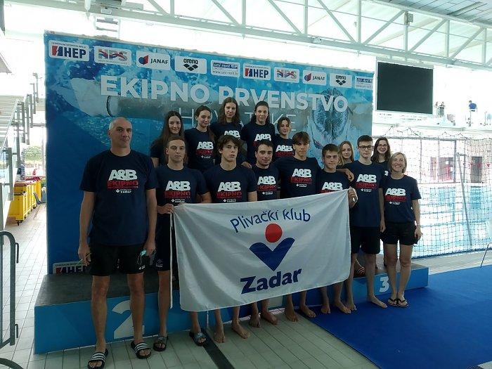 Zadarski plivači drugi, a plivačice četvrte u B diviziji