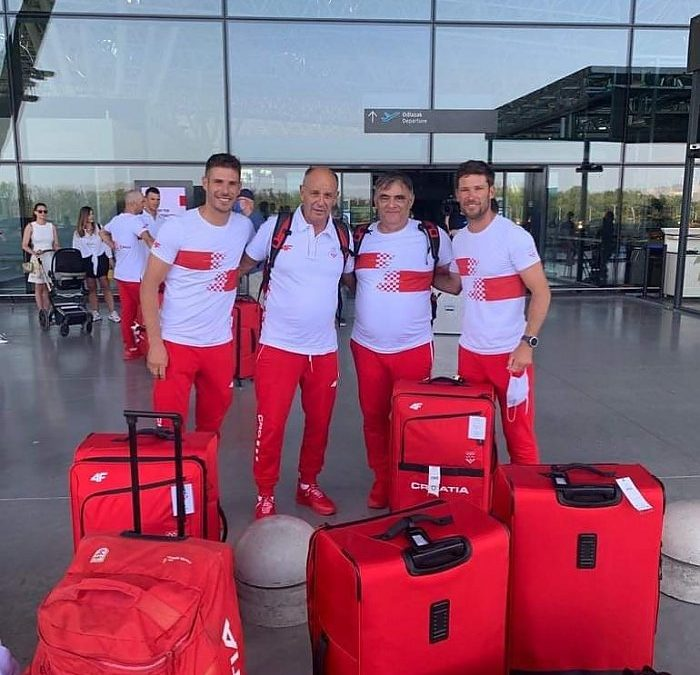 Zadarski olimpijci braća Fantela s trenerom i fizioterapeutom otputovali u Tokijo